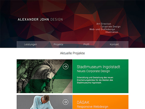 intertain Referenzen: Alexander John Design