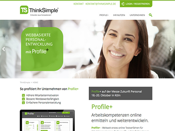 intertain Referenzen: Think Simple, Profile+